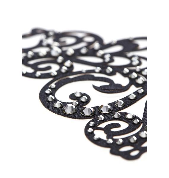Black Lace Skin Jewelry Stash Body Jewelry