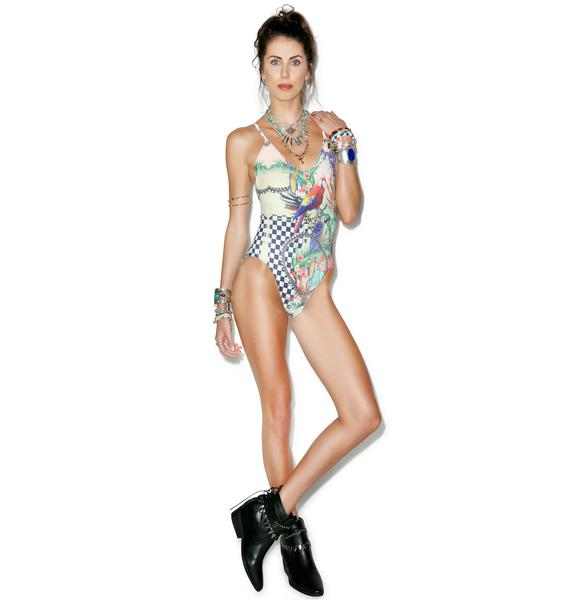 Wildfox Couture Acid Baroque One Piece