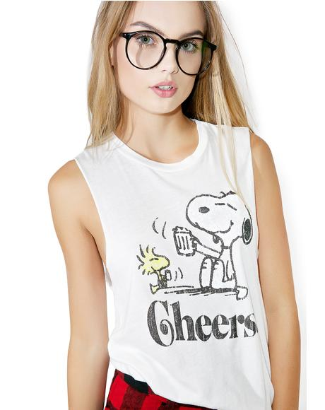 Snoopy Cheers Tank