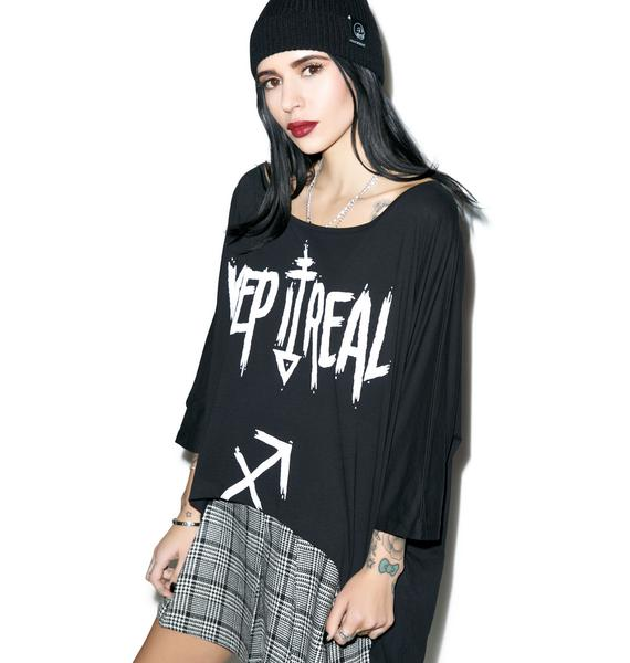 Killstar Sagittarius Drape Top