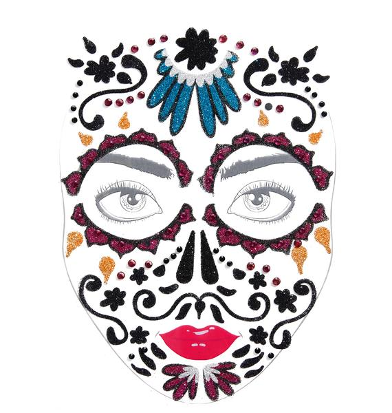 Love And Madness Dia De Los Muertos Face Jewels