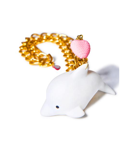 Trixy Starr Cosmic Dolphin L.E.D Necklace