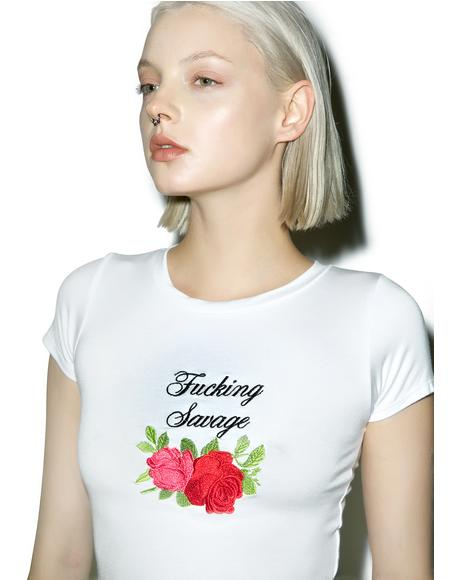 Fucking Savage Crop Tee