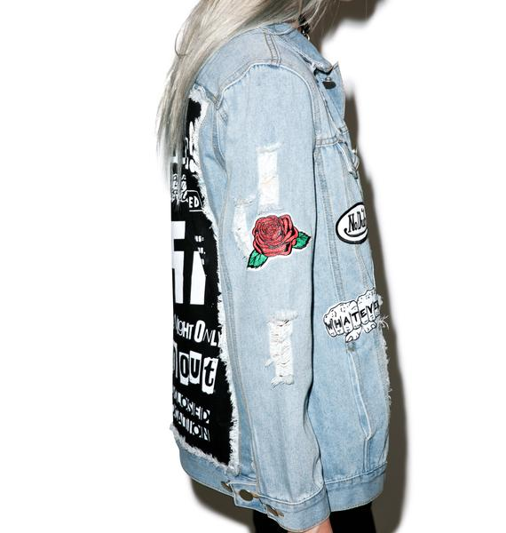 Petals and Peacocks Petals Unplugged Destroyed Denim Jacket