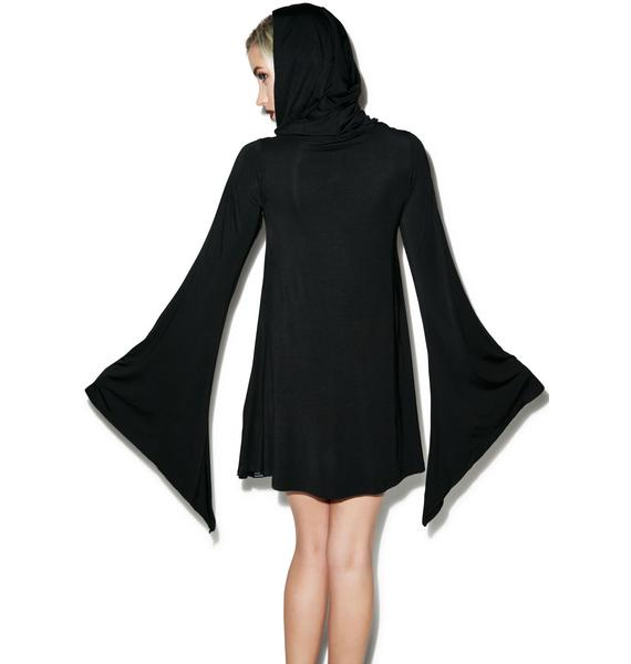 Killstar Witch Hood Flare Dress