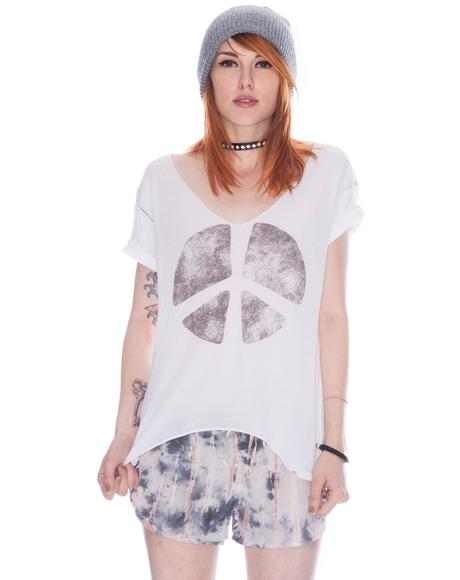 Double Peace Sign Destroyed Tee