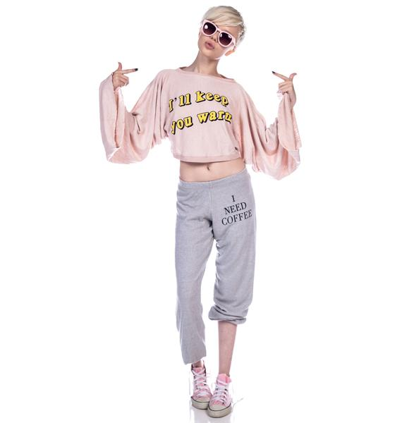 Wildfox Couture I'll Keep You Warm Angel Crop Sweater
