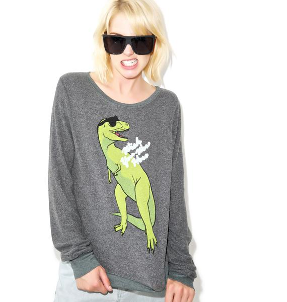 Wildfox Couture Wish You Were Here Baggy Beach Jumper