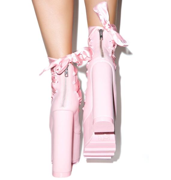 Y.R.U. x Dolls Kill Ballet Bae Platforms