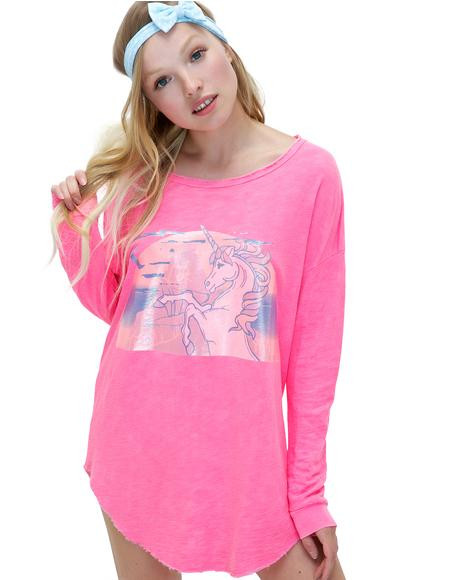 Hologram Unicorn Tuscany Tunic