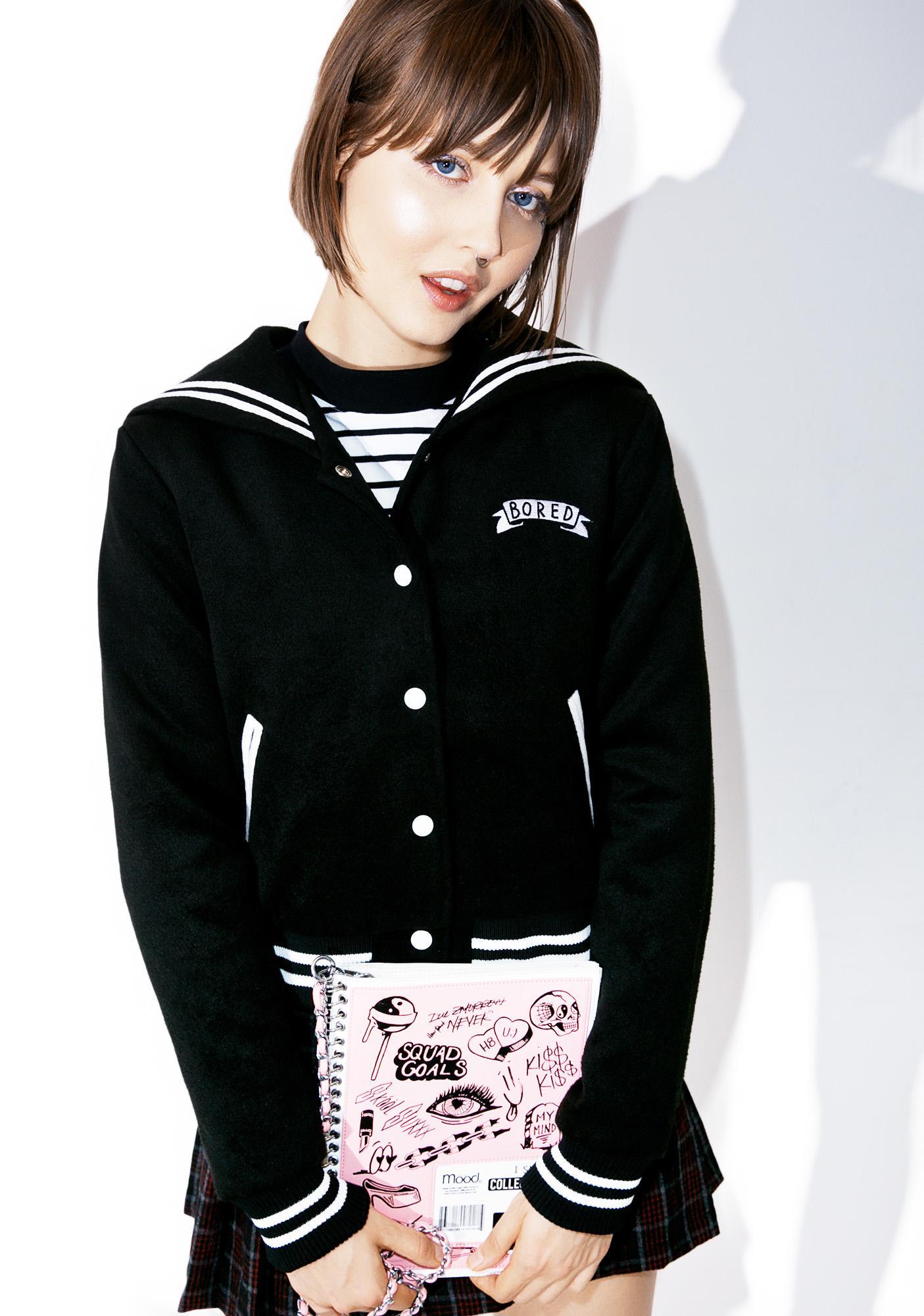 Lazy Oaf Mono Bored Varsity Jacket