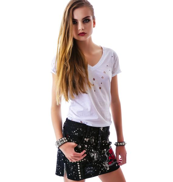 Tripp NYC Patches n' Paint Skirt