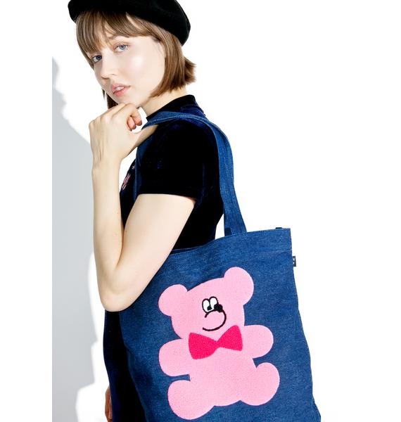 Lazy Oaf Fur Bear Tote Bag