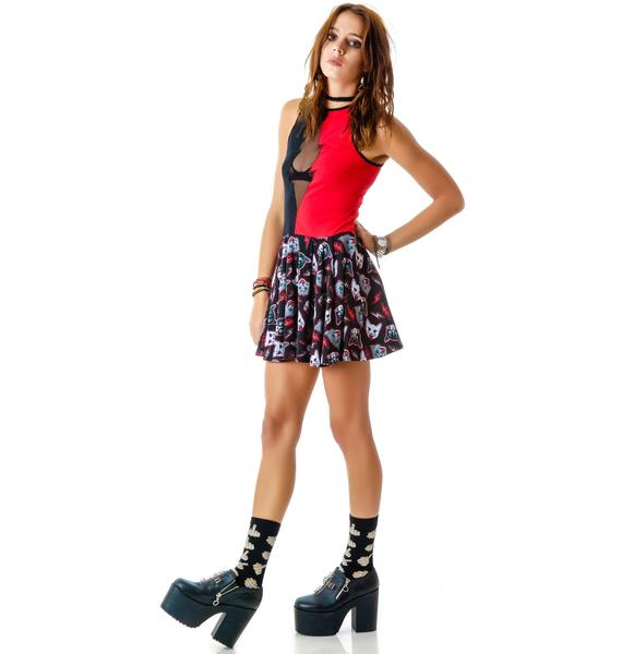 Too Fast Kitty Rocks Omen Skater Dress