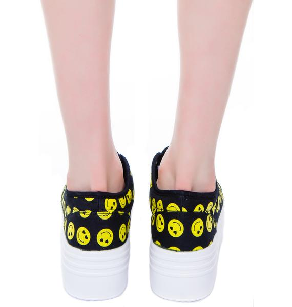 Blyke Smiley Platform Sneaker