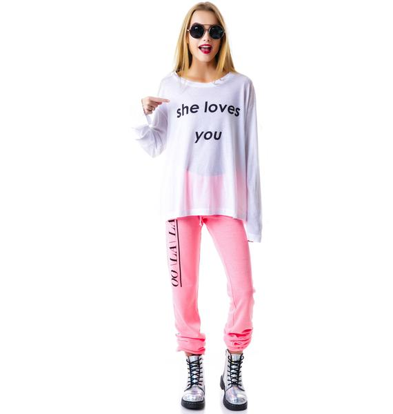 Wildfox Couture She Loves You Rainy Beach House T