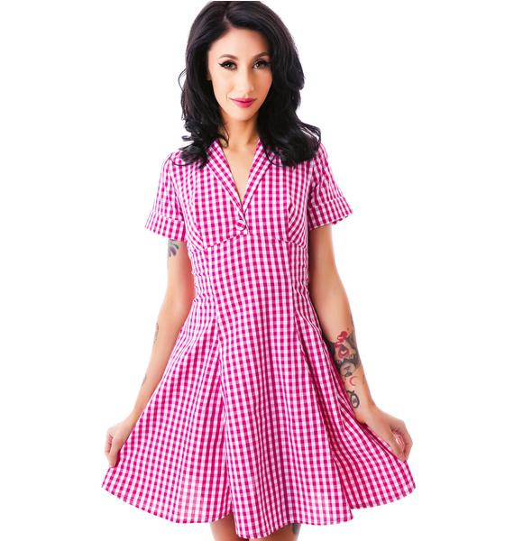 Hell Bunny Let's Go On A Picnic Dress
