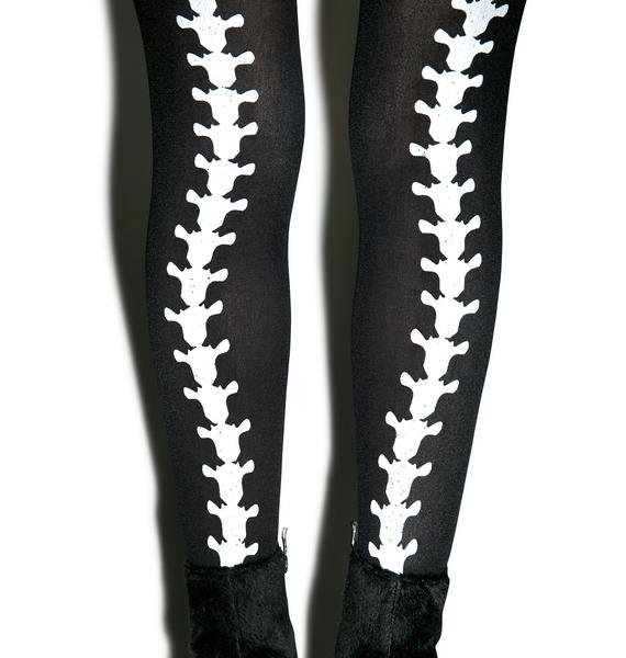 Dem Bones Backseam Tights