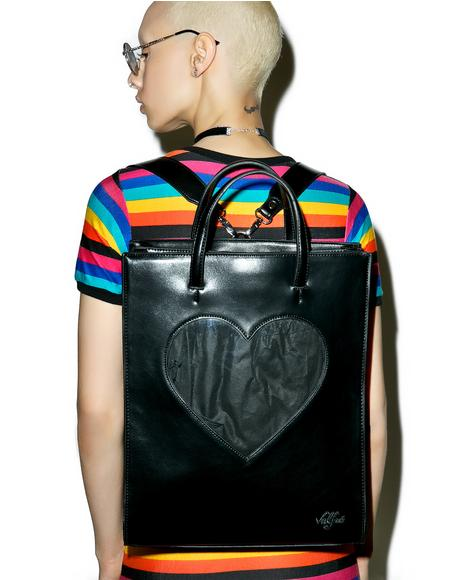 Black Heart Of Glass Backpack
