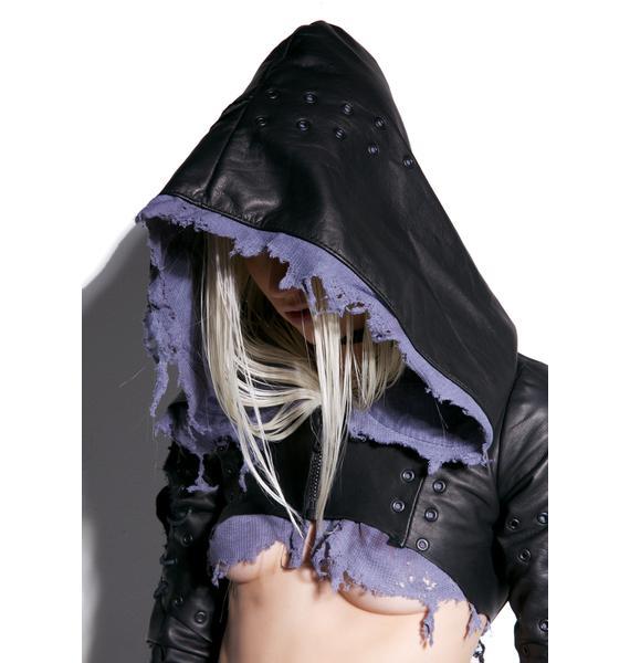Junker Fugitive Cropped Leather Jacket