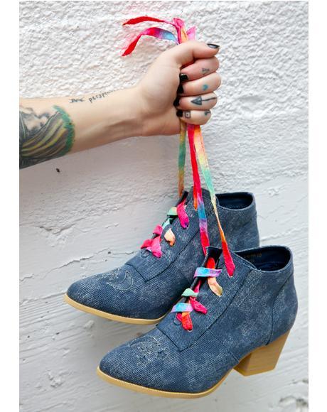 Denim Aura Lo Ankle Boots