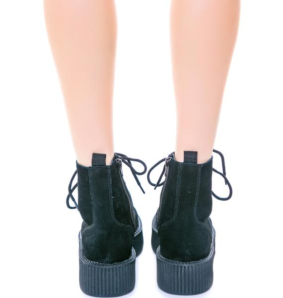 T.U.K. Suede 7 Eye Mondo Creeper Boot