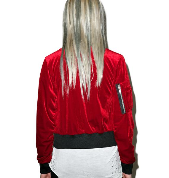 Killstar Bathory Velvet Bomber Jacket