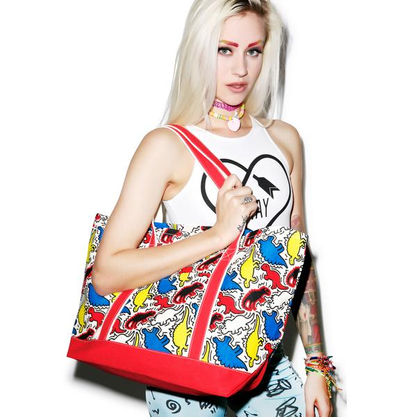 Dino Pop Art Tote Bag