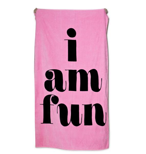 I Am Fun Giant Beach Towel