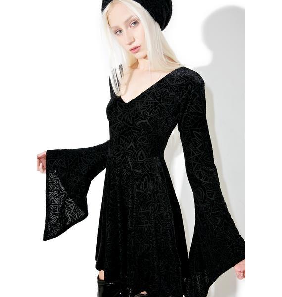 Killstar Burn Baby Angel Sleeve Dress