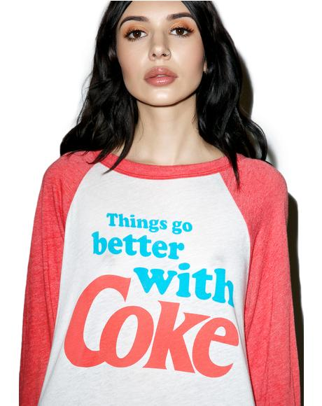 Go Better With Coke Rebel Raglan