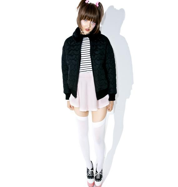 Lazy Oaf Black Heart Bomber Jacket