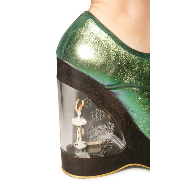 Irregular Choice Glissade Ballerina Wedges