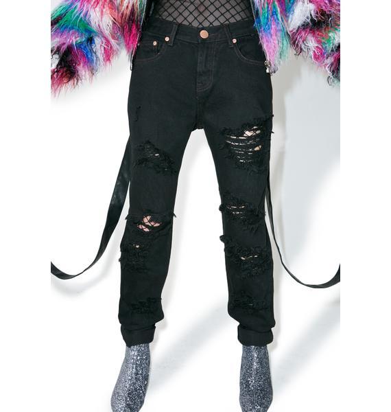 Glamorous Hellhole Distressed Boyfriend Jeans