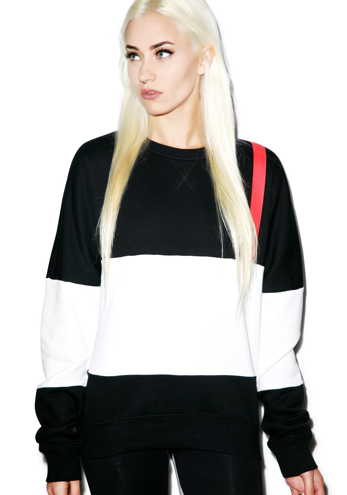 Black Scale Code Red Crewneck