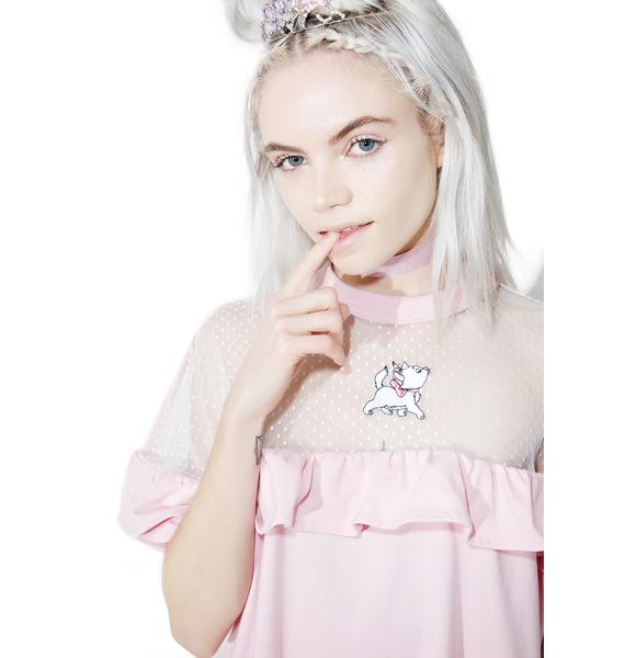 Lazy Oaf X Disney Aristocats Sheer Frilly Tee