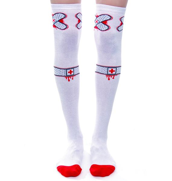 Sourpuss Clothing Ouch Knee Socks