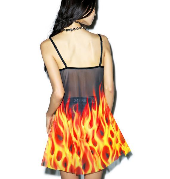 24HRS X Dolls Kill Burnin' Up Dress
