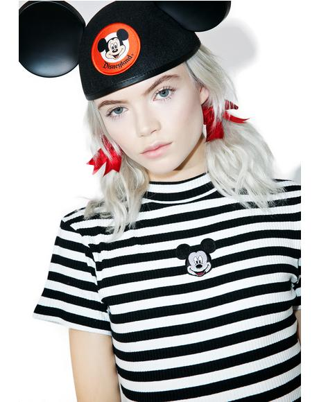 X Disney Mickey Mouse Baby Rib Tee
