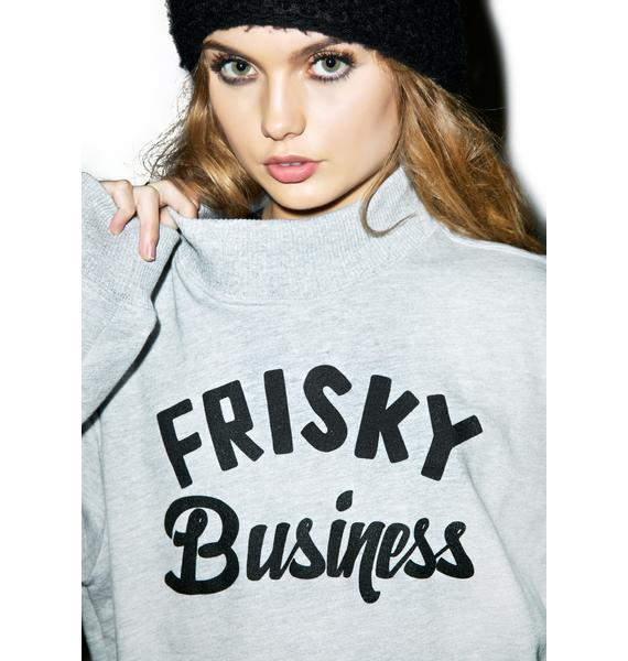 Petals and Peacocks Frisky Business Turtleneck Sweater