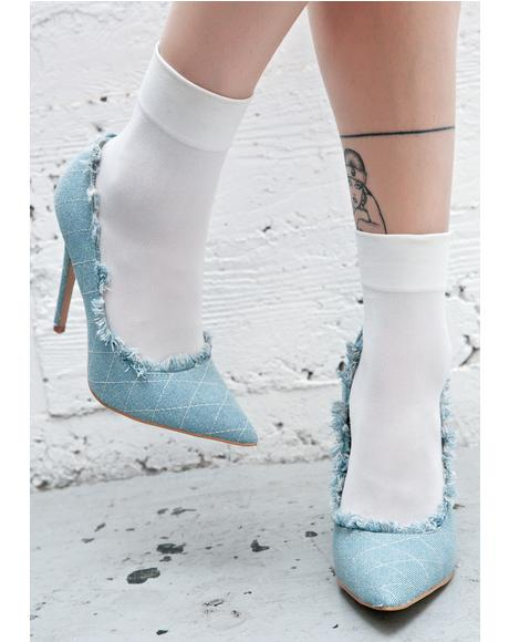 Britney Denim Heels