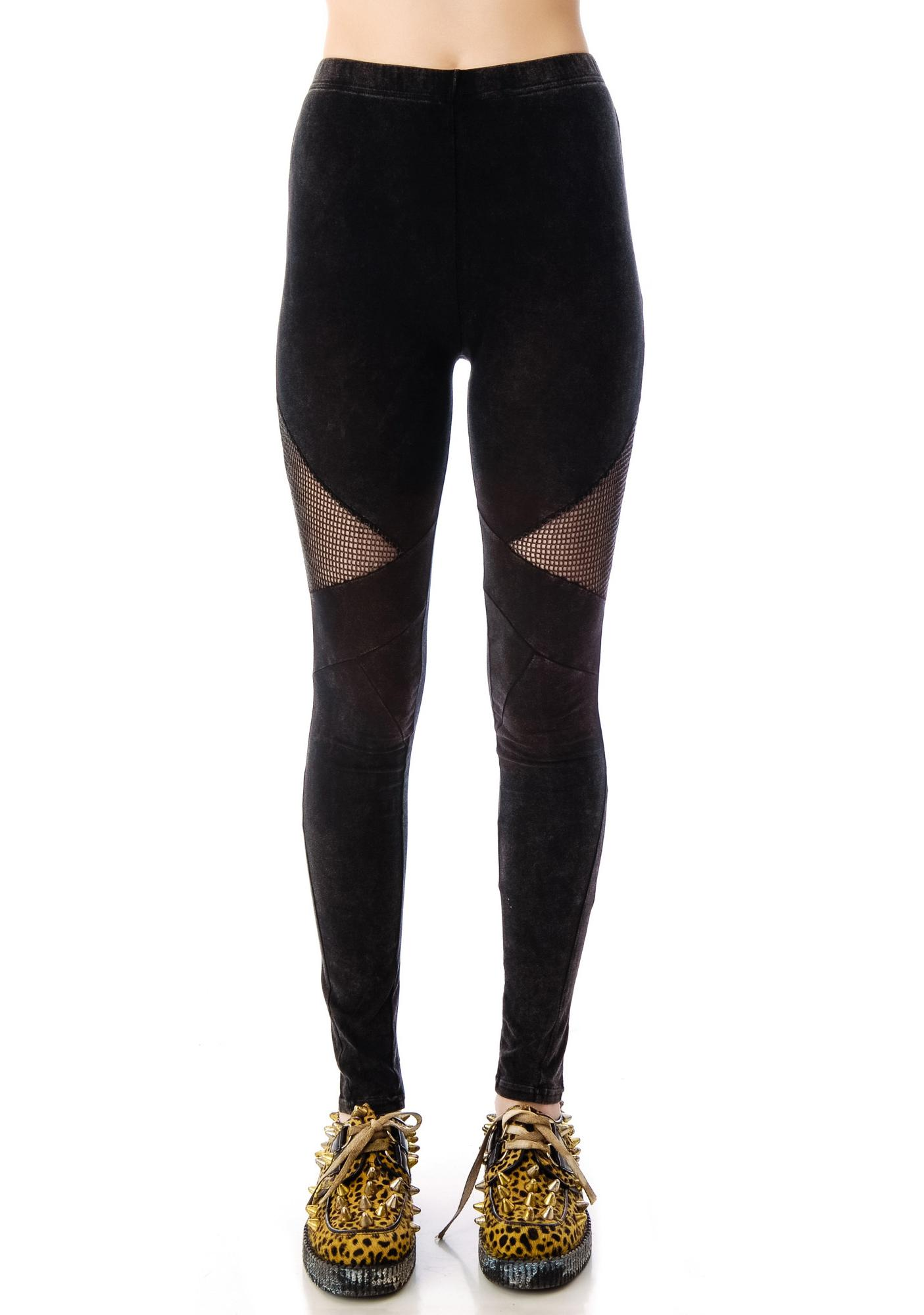 Hot Mesh Side Net Leggings