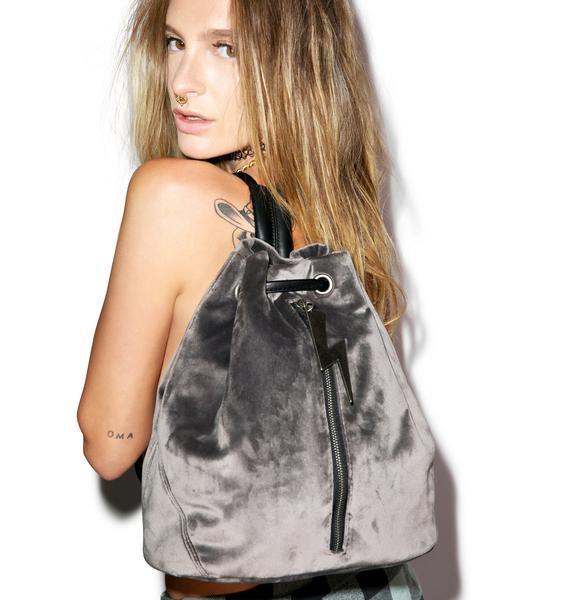 Dolly Bae Velvet Legend Bolt Backpack