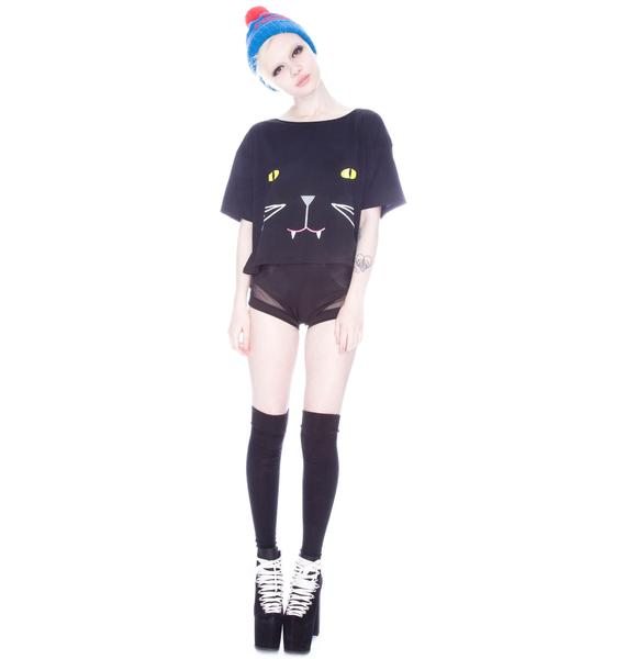 Lazy Oaf Panther Crop Tee