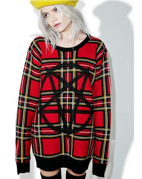 Beastplaid Pullover Sweater