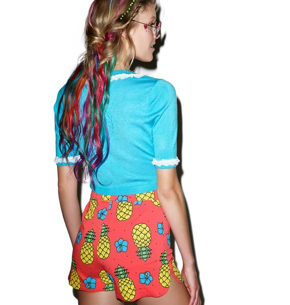 Sourpuss Clothing Pina Colada Sweetie Pie Shorts