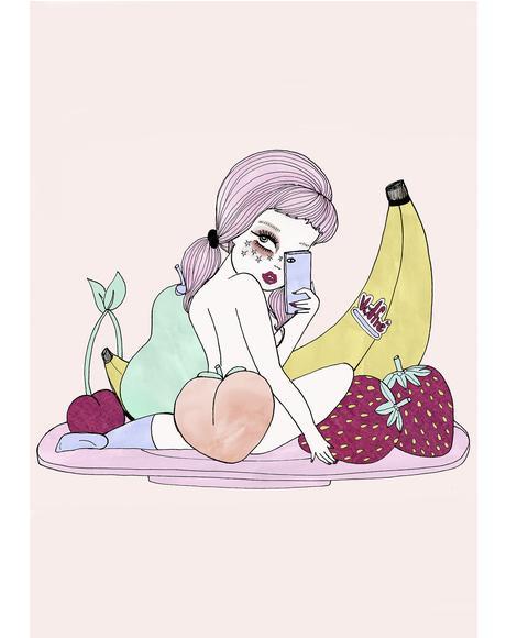 Fruta Gal Art Print