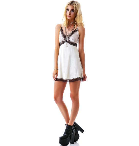 Sweet Cream Lace Cami Dress