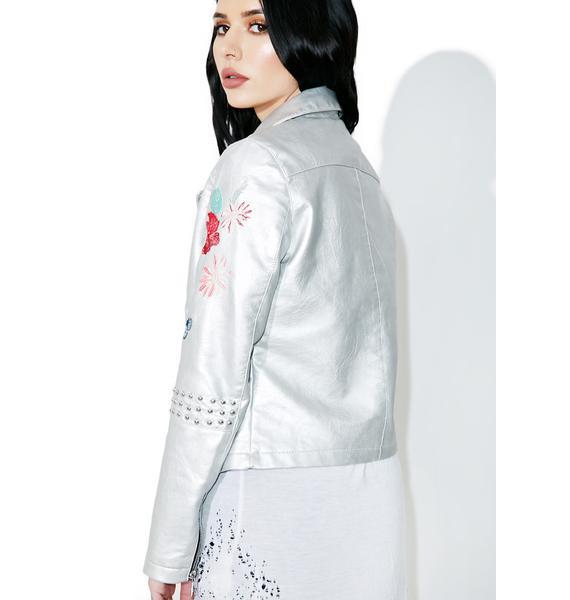 Glamorous Wild Flower Moto Jacket