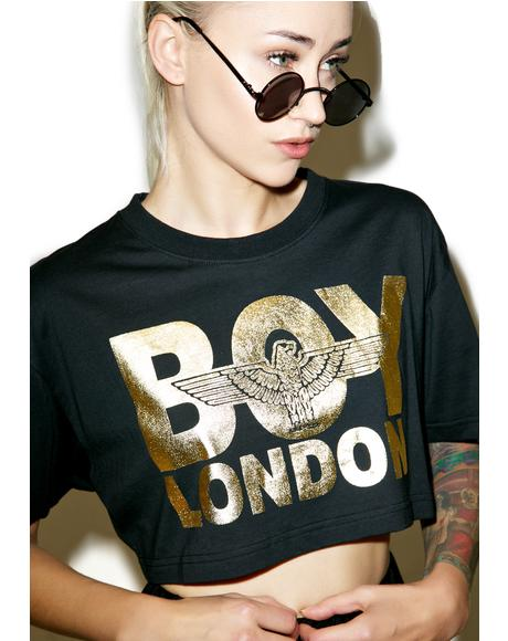 Boy London Golden Crop Top